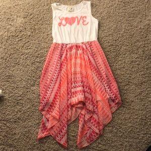 "Pink & White ""L💗VE"" dress"